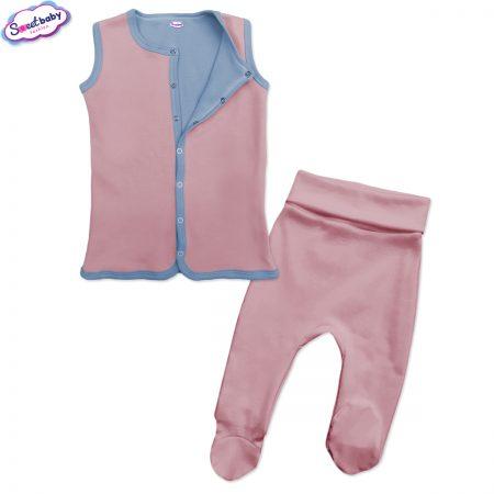 Бебешки сет в розово и синьо
