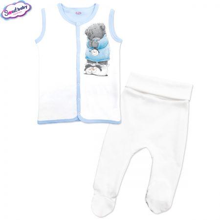Бебешки сет в синьо Снежен мечо