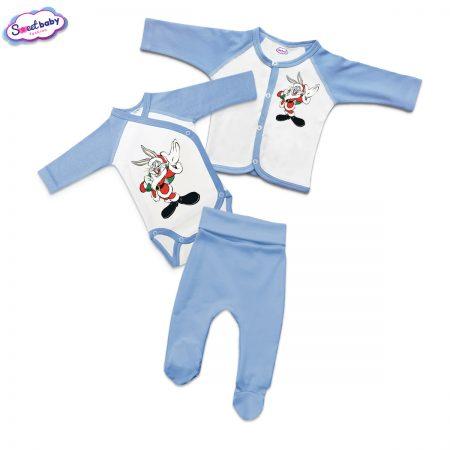 Бебешки сет в синьо Bunnychristmas