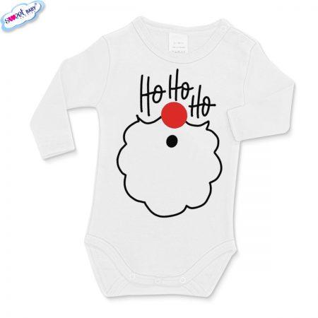Бебешко боди в бяло ХоХоХо