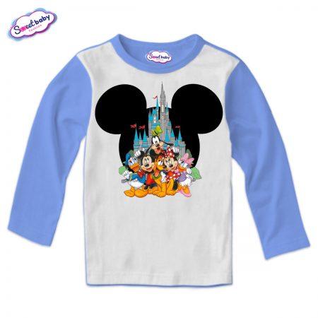 Детска блуза в синьо Микимаска герои