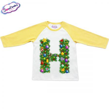 Детска блузка жълто Н Коледа