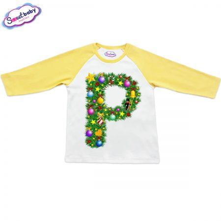 Детска блузка жълто Р Коледа