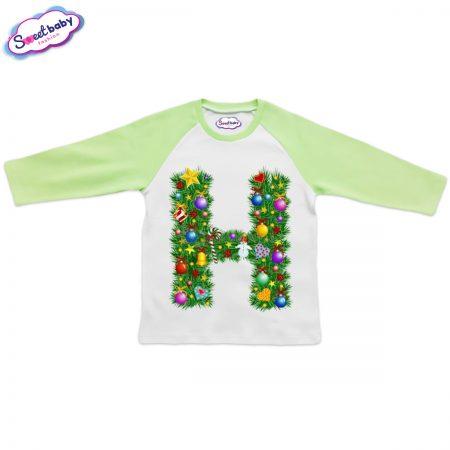 Детска блузка зелено Н Коледа