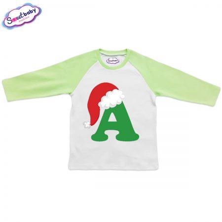 Детска блузка зелено A шапка