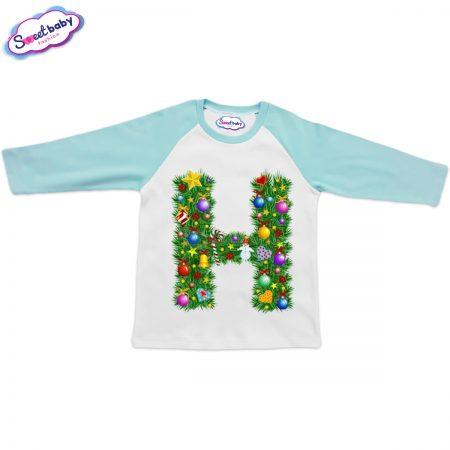 Детска блузка мента Н Коледа