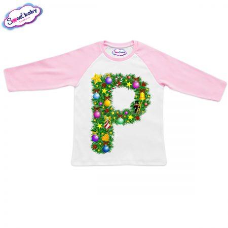 Детска блузка розово Р Коледа