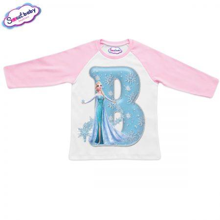 Детска блузка розово и бяло В