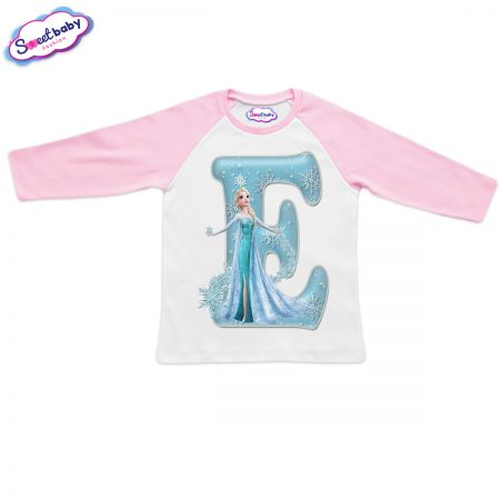 Детска блузка розово и бяло Е
