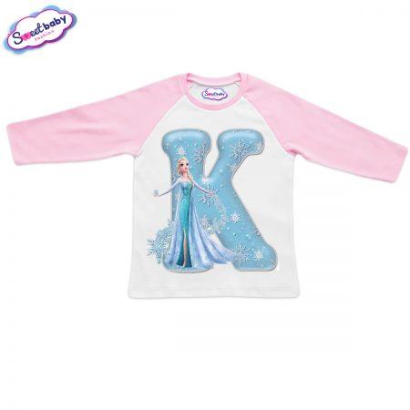 Детска блузка розово и бяло К