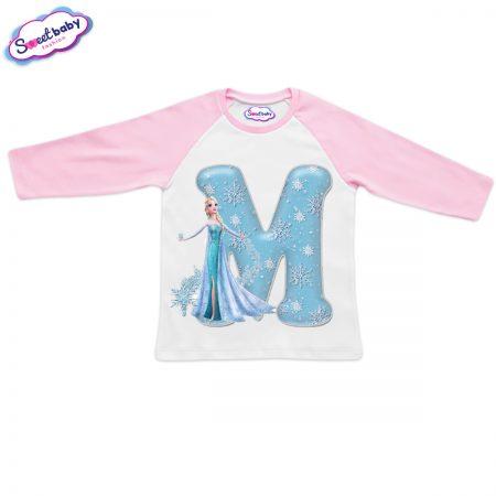 Детска блузка розово и бяло М