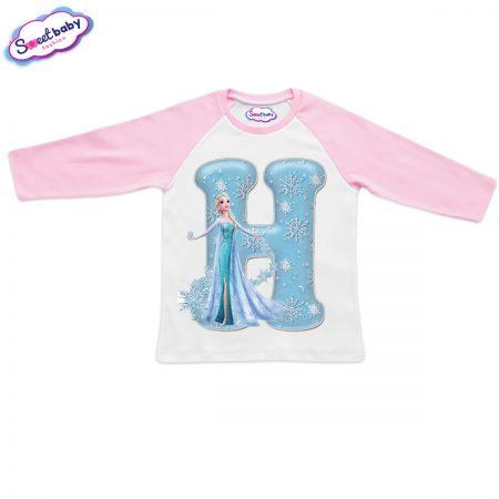 Детска блузка розово и бяло Н