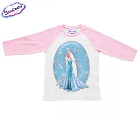 Детска блузка розово и бяло О