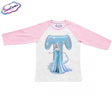 Детска блузка розово и бяло Т