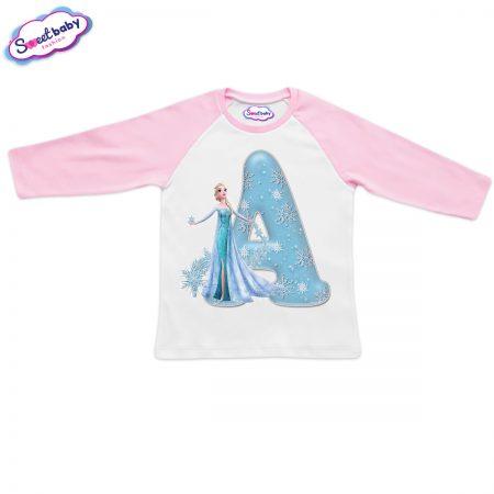 Детска блузка розово и бяло A