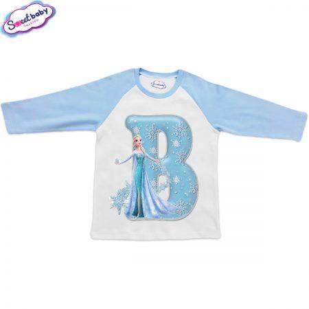 Детска блузка синьо и бяло В