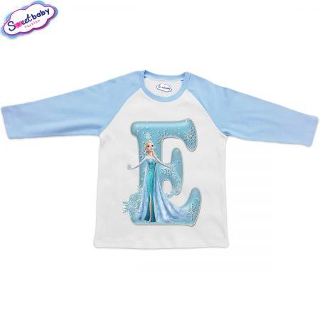 Детска блузка синьо и бяло Е