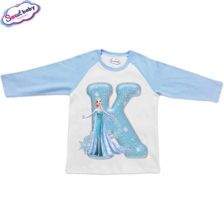 Детска блузка синьо и бяло К