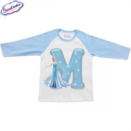 Детска блузка синьо и бяло М
