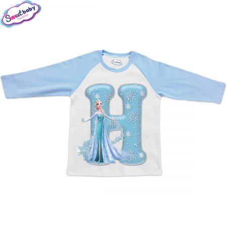 Детска блузка синьо и бяло Н