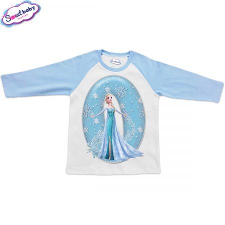 Детска блузка синьо и бяло О