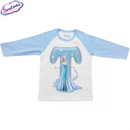 Детска блузка синьо и бяло Т
