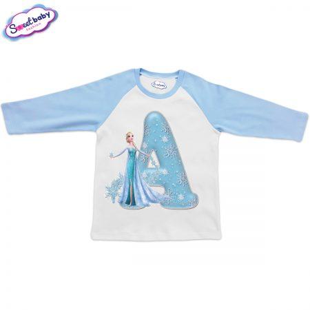 Детска блузка синьо и бяло A