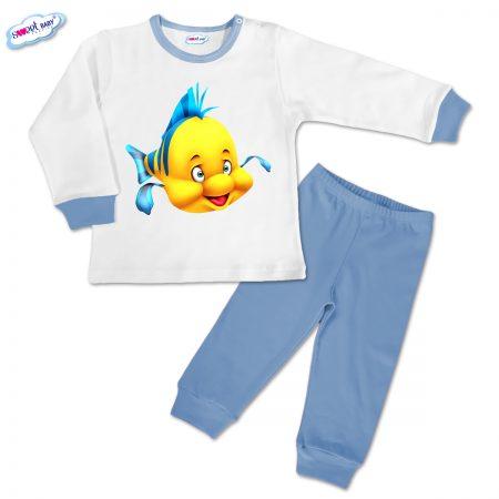 Детска пижамка в синьо Flounder Mermaid