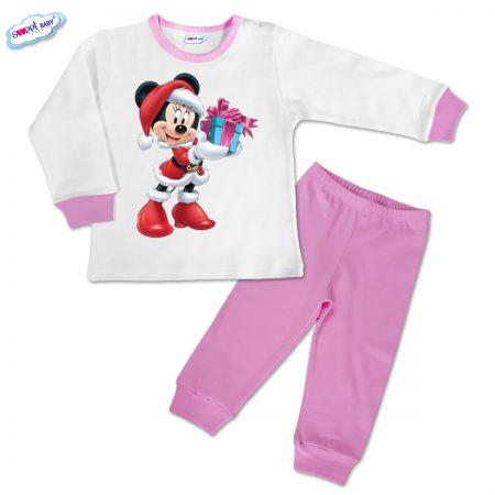 Детска пижамка розово Мини с коледен подарък