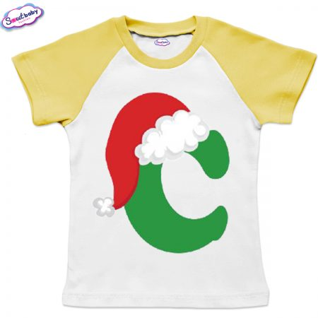 Детска тениска бяло жълто С шапка
