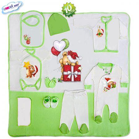 Комплект за изписване в зелено Коледа 10 части