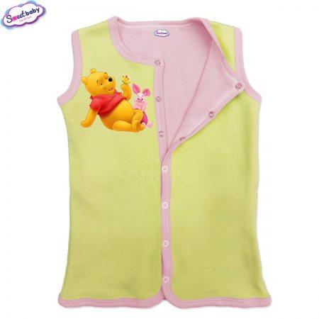 Бебешко елече жълто-розово Пух и прасчо