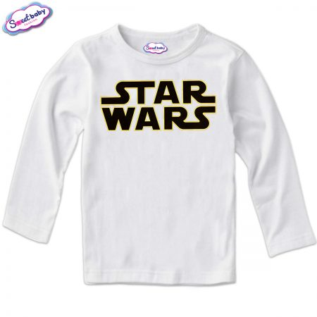 Детска блуза в бяло Star wars