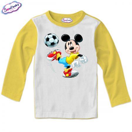 Детска блуза в жълто Мики футболист