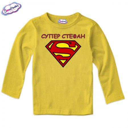 Детска блуза в жълто Супер Стефан