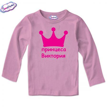 Детска блуза в розово Принцеса Виктория
