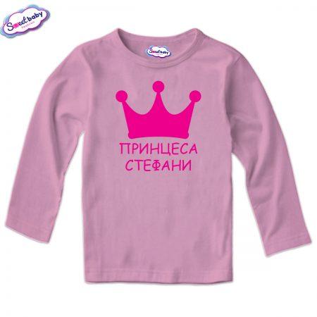 Детска блуза в розово Принцеса Стефани