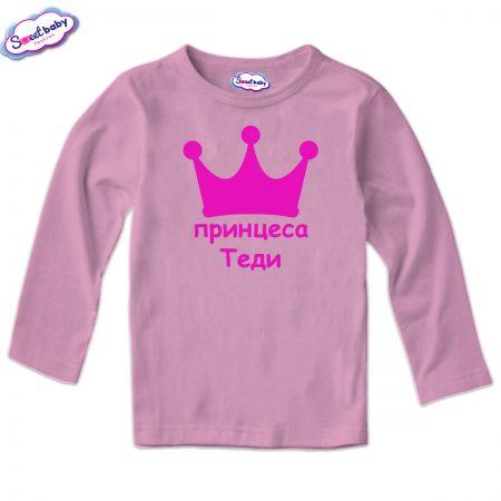 Детска блуза в розово Принцеса Теди
