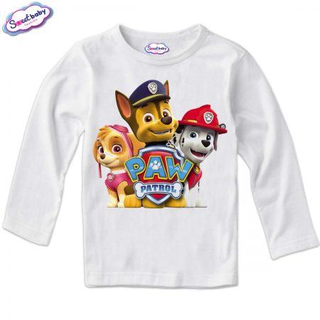 Детска блуза в бяло Paw patrol