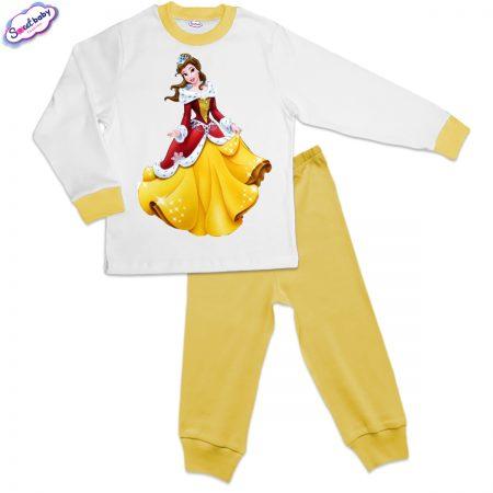 Детска пижама в жълто Коледна Бел