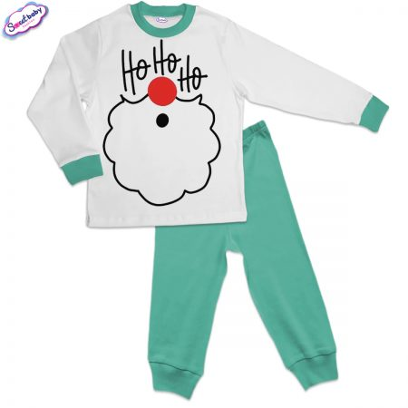 Детска пижама в мента ХоХоХо