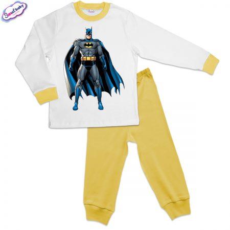 Детска пижама жълто Батман с наметало