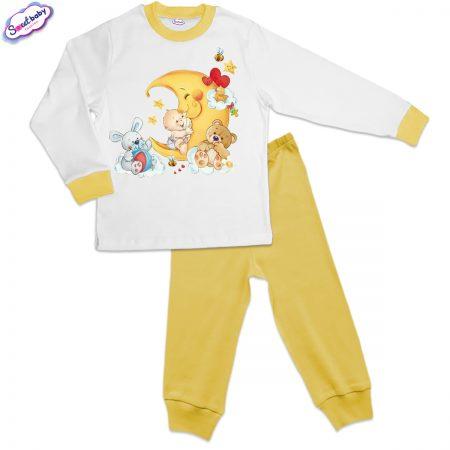 Детска пижама жълто бяло Бебешки сънища