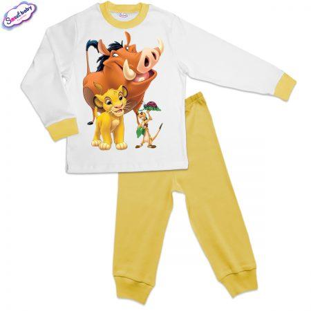 Детска пижама жълто бяло Hakuna matata