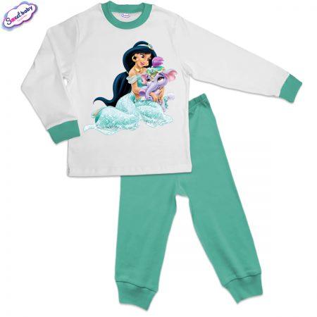 Детска пижама мента Ясмин и слонче