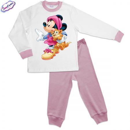 Детска пижама розово Мини с котка