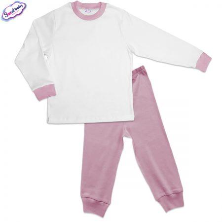Детска пижама розово и бяло