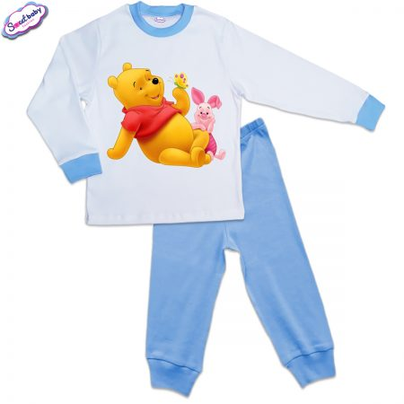 Детска пижама синьо Пух и Прасчо