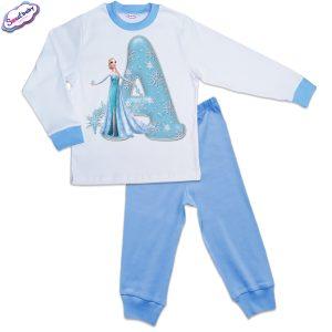 Детска пижама синьо и бяло А