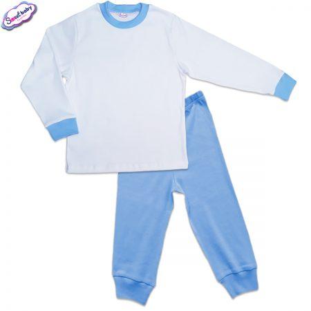 Детска пижама синьо и бяло